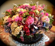 Dried Flower Arrangement / Valentine's Day by CloverHollowDesigns, $56.00