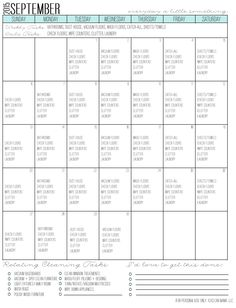 Finally, a cleaning schedule that works! Print out this FREE September cleaning calendar to help maintain a cleaner, more organized home!
