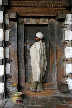 door in Ethiopia by Eileen Delhi.