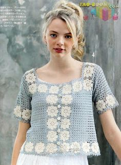 Crochet blusa                                                                                                                                                                                 Mais