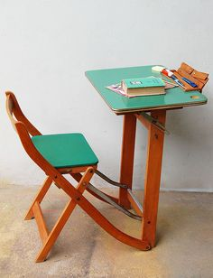 gonethis adorable childu0027s desk from italy was made in the it has a place for everything so that everything can be in its place