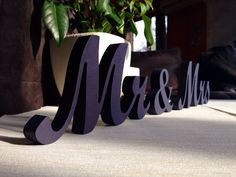Royal Blue Sign Mr & Mrs- Wedding decoration-  Mr and Mrs signs for sweetheart table on Etsy, $25.00