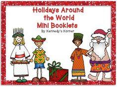 Holidays Around the World Mini Booklets ~ FREEBIE!    By K