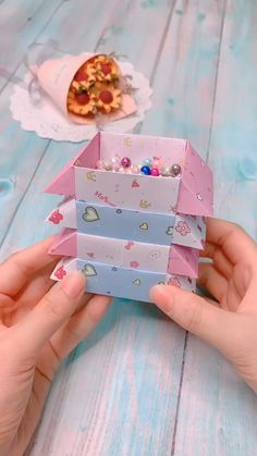# origami box easy Box Origami Tutorial Step By Step Easy Paper Crafts Origami, Diy Crafts For Gifts, Paper Crafts For Kids, Diy Arts And Crafts, Creative Crafts, Diy Paper, Paper Flowers Craft, Origami Flowers, Decor Crafts