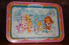 Vintage Care Bears Cousins Tv/Lap Tray 80s Toys 1985. My sister and I both had one and would eat our cereal on them while watching sat morning cartoons!!