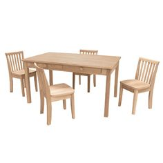 Solid Hardwood Childrenu0027s Table U0026 Chair Set | Chairs, Tables And Children