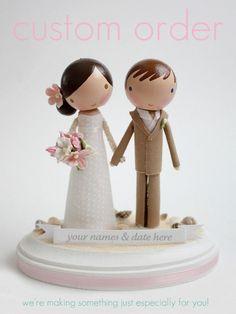 custom+wedding+cake+topper++order+for++by+lollipopworkshop+on+Etsy