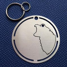 Suggested to:Australian Shepherd, Border Collie, Collie, Kooikerhondje, Mixed, Nova Scotia Duck Tolling Retriever, Shetland Sheepdog, Stabyhoun We can personalize the tag, just let us know at checkout (Maximum characters: 30) WeLink is an I.D. tag for dogs, cats and owners, designed in stainless steel. The frame from which you get a charm with the outline of your four legged child measures 0.9mm in width, and 40mm in diameter for medium and large pets and 20.5mm for small breeds and our…