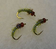 Ice Caddis Pupa - 3 Flies - Light Olive / Olive Brown – Baxter House River Outfitters