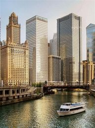 The Chicago River.  As we cruise down the water way