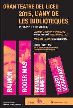 Concert de cloenda de 2015, l'Any de les Biblioteques. Gran Teatre del Liceu (Barcelona). 11 de novembre