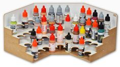 The Corner Paints Module 26mm has forty eight holes for paints and other bottles with a diameter of 26mm. This module changes the angle by 90 degrees of Modular Workshop System. Please Note - The Module can be used only in the top row of the Modular Workshop System. The Module is designed to connect with other products of the Hobbyzone Modular Workshop System. D imensions : 30cm x 30cm x 15 cm Main feature: 48 holes for bottles with...