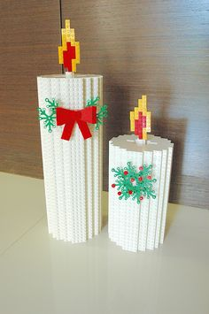 Christmas Candles: A LEGO® creation by Eugene Tan : MOCpages.com