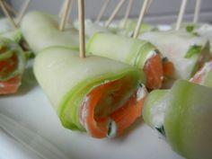 Roulés saumon/concombre/fromage frais - C secrets gourmands!! Blog de cusine, recettes faciles, à préparer à l'avance, ...