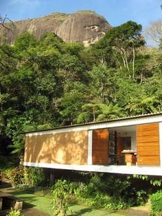 Casa de Samambaia - Sérgio Bernardes, 1951. Petrópolis/RJ - Brasil.