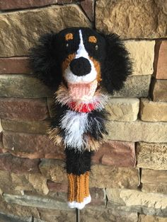 Excited to share this item from my shop: Bernese Mountain Dog golf club cover golf sock Made to Order Bernese Mountain, Mountain Dogs, Golf Socks, Golf Club Covers, Big Brown, Id Tag, Taylormade, Golf Clubs, Knitting Patterns