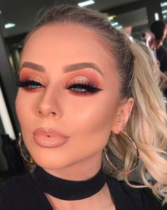 38 Trendy Ideas For Face Makeup Flawless Glam Makeup Look, Pretty Makeup, Love Makeup, Simple Eye Makeup, Makeup Looks, Eyeshadow Makeup, Hair Makeup, Beauty Makeup, Flawless Makeup