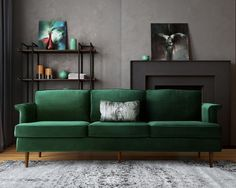 Image result for midcentury green walls
