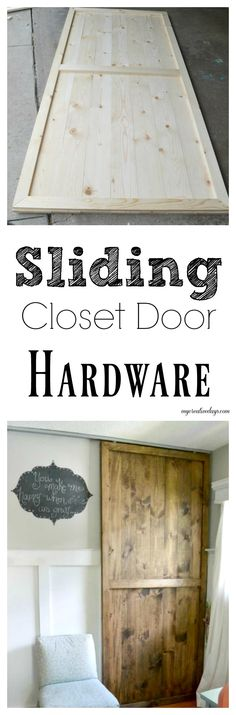 Are you adding sliding closet doors to your bedroom? Sliding closet door hardware can be tough, but this post will show you an inexpensive option. Informations About DIY Sliding Closet Door Hardware P Closet Door Hardware, Wood Closet Doors, Barn Doors, Wood Home Decor, Diy Home Decor, Closet Door Makeover, Ikea, Amazing Bathrooms, Wood Design