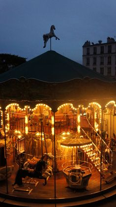 Paris  Carousel Frm bd: Around The World At Night