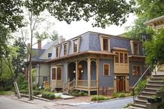 This Second Empire Victorian is brand-spanking-new, from the finished basement to the copper gutters and mansard roof.