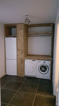 "Find out more details on ""laundry room storage small cabinets"". Look into our web site. Garage Laundry, Small Laundry, Laundry Room Organization, Laundry Room Design, Small Living Room Design, Interior Design Living Room, Small Storage, Storage Room, Laundry Room Wallpaper"
