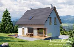 Projekt domu Dom na Stoku 5 T, wizualizacja 2 Shed, Outdoor Structures, Cabin, House Styles, Home Decor, Decoration Home, Room Decor, Cabins, Cottage