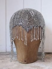 Gorgeous vintage beaded cap for Flapper Day.