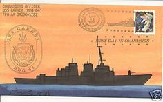 Nice hand painted cachet USS CARNEY DDG-64 Naval Cover 1996 ROGAK Cachet