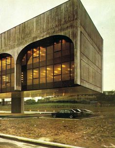FATA Headquarters | Milan |1975. Architect |Oscar Niemeyer  Normally not into brutalism but this is cool.