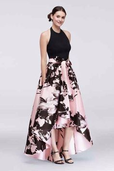 Are you searching for a cute mother of the bride dress? You should take a look at this High-Low Halter Mother of Bride-Groom Dress with Printed Mikado Skirt Style. Elegant Dresses, Pretty Dresses, Beautiful Dresses, Formal Dresses, High Low Dresses, Formal Wear, Grad Dresses, Evening Dresses, Groom Dress