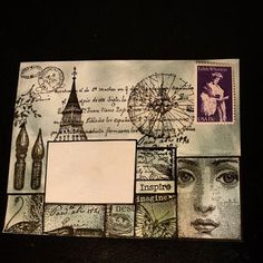 * The Crafty Sugar Addict *: Mail Art Overload Decorated Envelopes, Handmade Envelopes, Mail Design, Mail Art Envelopes, Fun Mail, Postage Stamp Art, Diy Envelope, Letter Art, Letter Writing