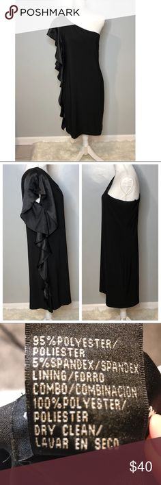 One Shoulder Midi Dress Super cute & fancy dress. Can be worn woth nice strappy heels for a night on the town. In great condition, been worn a few times.    Size 14 S.L. fashions Dresses Midi