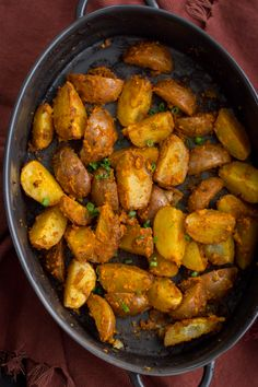 Roasted Romesco Potatoes | @naturallyella