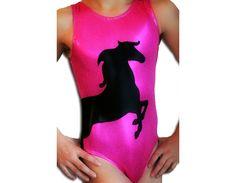 Gymnastics Leotard Girls Mystique Horse Pony Gymnastic Leotards Gymnast Leotard szs Toddler - adult cxs cs cm cl axs as am al by AEROLeotards on Etsy