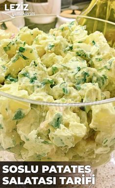 Potato Salad Recipe with Sauce, # Salad sauce the Turkish Recipes, Ethnic Recipes, Cookery Books, Comfort Food, Sauce Recipes, I Foods, Potato Salad, Food Porn, Food And Drink