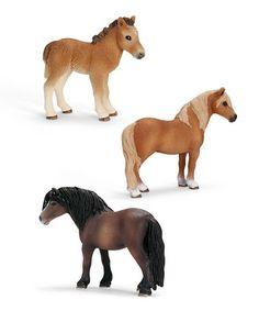 Look at this #zulilyfind! Dartmoor Pony Figurine Set by Schleich #zulilyfinds