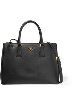 PRADA Galleria large textured-leather tote Black textured-leather Open top Comes with dust bag Weighs approximately 4.2lbs/ 1.9kg Made in Italy