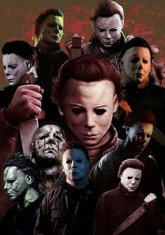 The many faces of Boring stabby man. Michael Myers, Slasher Movies, Horror Movie Characters, Halloween Film, Halloween Horror, Happy Halloween, Horror Icons, Horror Films, Horror Artwork