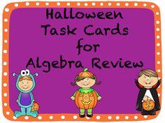 Fun Halloween Middle and High School Math Activities by Teaching High School Math!