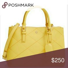 """Tory Burch Robinson Double Zip Tote Slightly used. Come with dust bag & 22.5 in strap. 7.5"""" (H) x 11""""(L) x 4.25"""" (W) Tory Burch Bags Totes"""