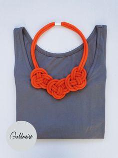 Statement-Kette 'Tarifa', handgefärbtes Seil von Goldmeise auf DaWanda.com