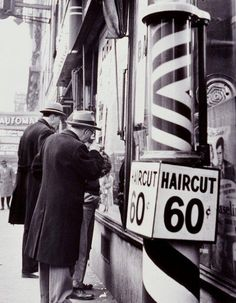 Haircut 60 cents...