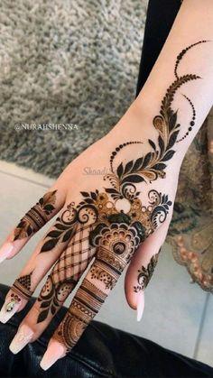 Pretty Henna Designs, Modern Henna Designs, Floral Henna Designs, Latest Henna Designs, Finger Henna Designs, Basic Mehndi Designs, Henna Art Designs, Mehndi Designs For Girls, Mehndi Designs For Fingers