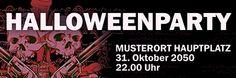 #Halloweenparty #Werbebanner von www.onlineprintxxl.com