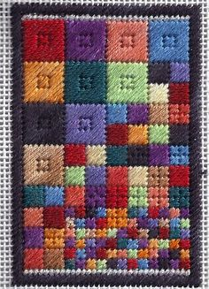 scrappy squares needlepoint quilt free project, designed by needlepoint expert janet m. perry