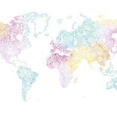 Sandberg World Map Multi térkép mintás tapéta M Wallpaper, World Map Wallpaper, Luxury Wallpaper, Contemporary Wallpaper, Designer Wallpaper, Pattern Wallpaper, Macbook Wallpaper, World Map Mural, Whole Image