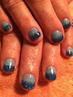 Nails by Mindy 816-914-8987 Historical square Liberty, MO Blue glitter