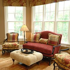 I don't care much for the couch style...but I love the colors - they work so well together!