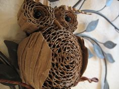 Cardboard Owl Tree Topper